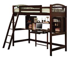 youth twin workstation loft bed in cappuccino 460063
