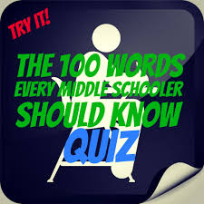 100 words every middle schooler should know