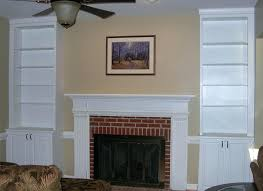 built in shelves with fireplacefireplace cabinet designs fireplace