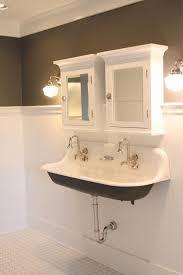 bathroom trough sink modern double trough sink from j aaron bathroom with regard to