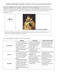 renaissance reformation exploration absolutism and french