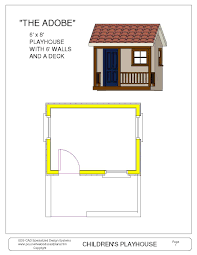 Playhouse Blueprints Sds Plans