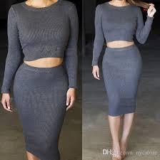 plus size two pieces women winter dresses 2016 long sleeve