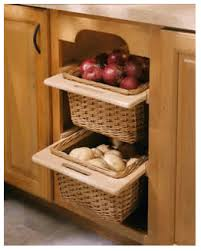 Kitchen Cabinets Baskets Beautiful Hand Made Wicker Vegetable Baskets And Fridge Drawers