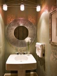 how to decorate a guest bathroom bathroom gorgeous guest bathroom decor with damask wall and round