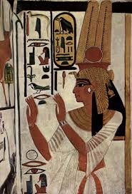 189 best women in ancient egyptian art images on pinterest ancient egyptian painting of queen nefertari two feathers like anubis ears traditional bent top staff