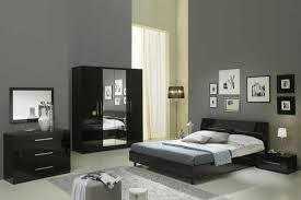 le de chevet chambre glorino chevet chambre a coucher noir laque 2 modiva