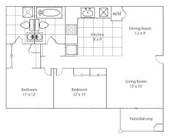 bed 2 bedroom flat floor plans