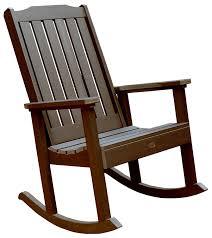 Patio Rocker Chair Highwood Lehigh Rocking Chair Weathered Acorn