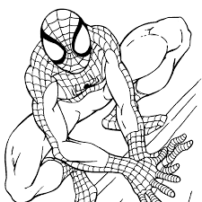 coloring endearing spiderman print coloring pages