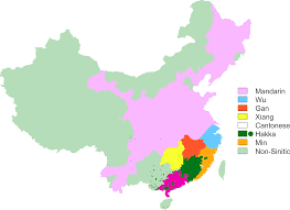 Chinese Map Dialects Of China