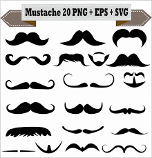 Meme Mustache - mustache styles meme emoji beard goatee silhouette vector clipart