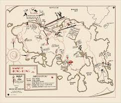 Map Of Hong Kong Picture This Le8 A Map Of Hong Kong By Frederich Schiff