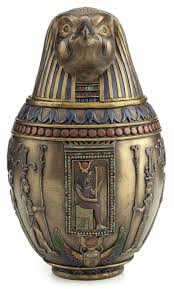 burial urn horus canopic jar falcon pet burial urn sculpture statue