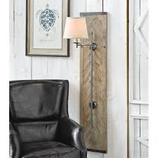 Wood Panel Wall by Weathered Wood Panel Wall Sconce Shades Of Light