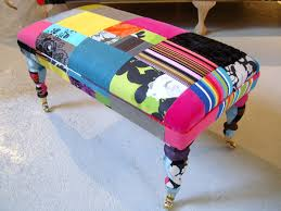 Colourful Upholstery Fabric Furniture Patchwork Upholstery Fabric Multi Coloured Patchwork