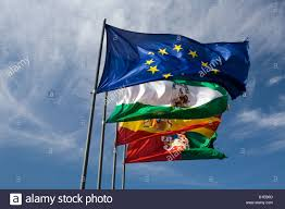 Flag Of The European Union The Flags Of The European Union Andalusia Spain And Granada