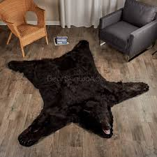hanging fur rugs bear skin world
