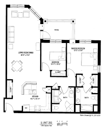 nice architectural floor plans with dimensions smart modern heritage at city center in new berlin senior living floor plan modern amenities offered interior