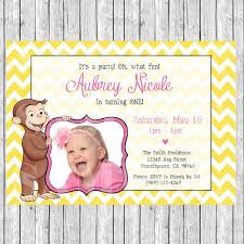 birthday invites captivating curious george birthday invitations