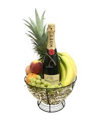 same day delivery gift baskets the moët chandon fruit basket is available for same day delivery