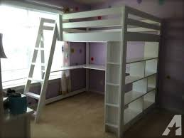 Built In Bookcase Kits Comfortable Bedroom Handcrafted Full Size Loft Bed With Built In
