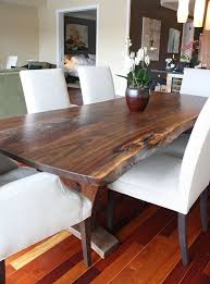 Best  Wood Slab Dining Table Ideas On Pinterest Live Edge - Wood dining room table