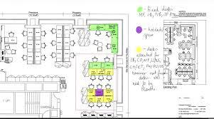 disposition bureau desk layout showing fixed desks working desks and
