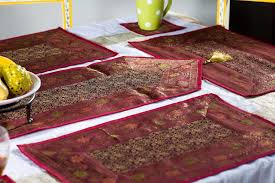 buy online decorative zari table runner handmade india home decor