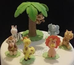 safari cake toppers girl safari birthday jungle cake topper zoo animal cake topper
