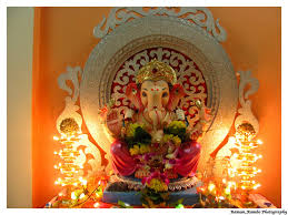 Home Temple Decoration by Decoration Ideas For Ganpati Utsav Jai Malhar Theme Home