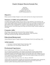 Sample Resumes Pdf Graphic Design Resume Examples Graphic Design Resume Example