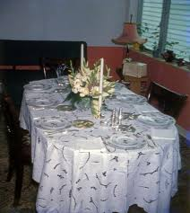 florida memory dining table set for thanksgiving dinner in a