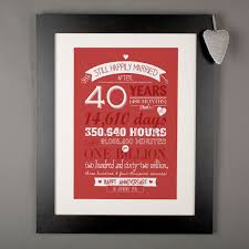 40th wedding anniversary gifts for parents wedding gift best gift for 40th wedding anniversary picture