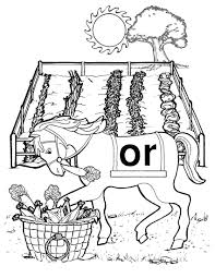 free coloring page for kids orville the horse sound town phonics