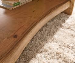 Wohnzimmertisch Baumscheibe Wohnzimmertisch Live Edge Akazie Natur 130x60 Cm Baumkante Baumtisch