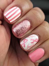 joby nail art think pink promotion pink stripes glitter nail