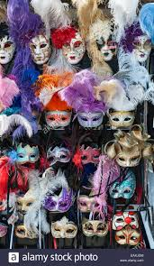 carnival masks for sale venice italy carnival masks on a stall for sale to stock