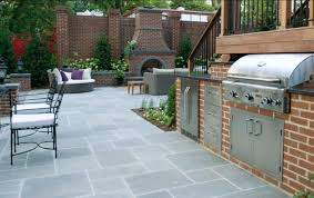 outdoors fabulous backyard living space with brick wall and