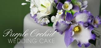 purple orchid wedding cake cakes