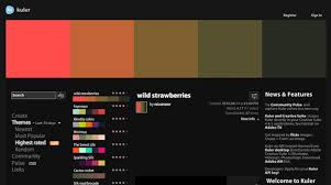 10 sites to play with colors and create color palettes