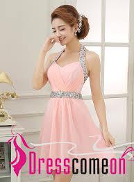 light pink graduation dresses blush pink homecoming dresses glittering halter beading short light