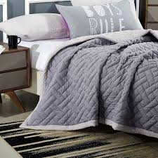 Single Summer Duvet Aliexpress Com Buy Grey Stitching Bedspread Solid Color Pillow