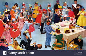 1950s us children u0027s party stock photo royalty free image