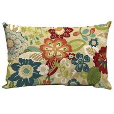 Shop Garden Treasures Bloomery Floral Rectangular Lumbar Outdoor
