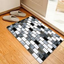 Tile Area Rug 2018 Ceramic Tile Pattern Indoor Outdoor Area Rug Black White W