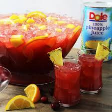 thanksgiving beverage holiday punch beverage recipes dole packaged foods