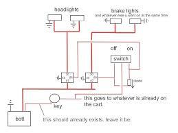 wiring diagram for lights on yamaha golf cart u2013 readingrat net