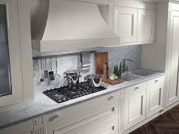 kitchen geometric tile backsplash beveled edge laminate