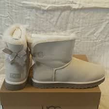 ugg s boots size 11 41 ugg boots ugg bailey bow salt white boots 11 nwb